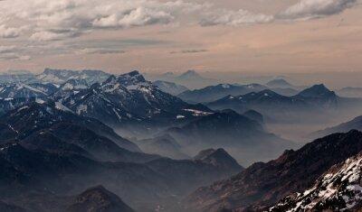 Naklejka Widok z Hoellengebirge kierunku Salzburg, Austria