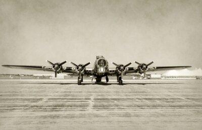 Naklejka Widok z przodu stary bombowiec