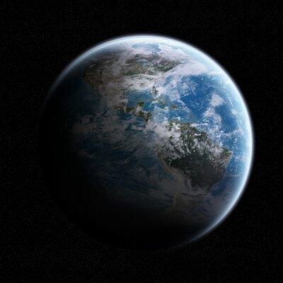 Naklejka Widok Ziemi z przestrzeni kosmicznej