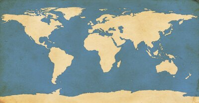 Naklejka Wieku mapa świata