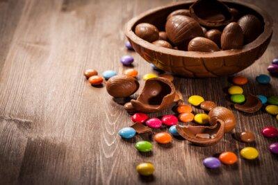 Naklejka Wielkanoc czekoladowe tła
