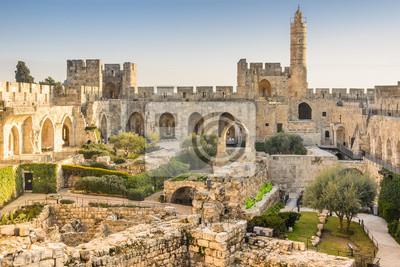 Naklejka Wieża Dawida w Jerozolimie, Izrael.