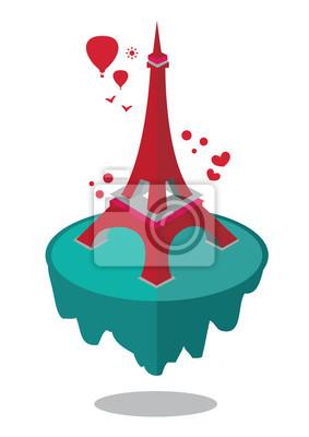 Wieża Eiffla izometrycznej ilustracji wektorowych