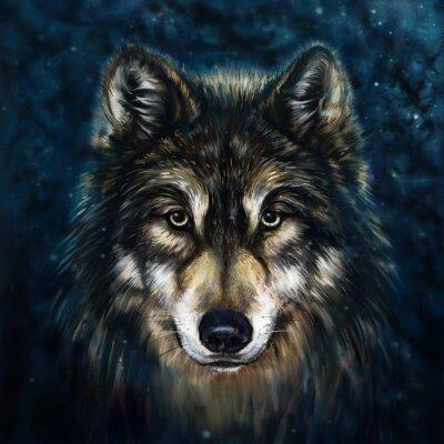 Naklejka wilk przodu