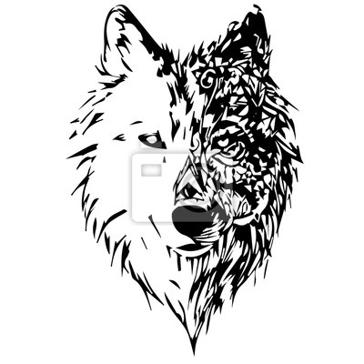 Naklejka wilki