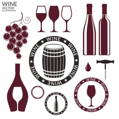 Naklejka Wine. Ustaw