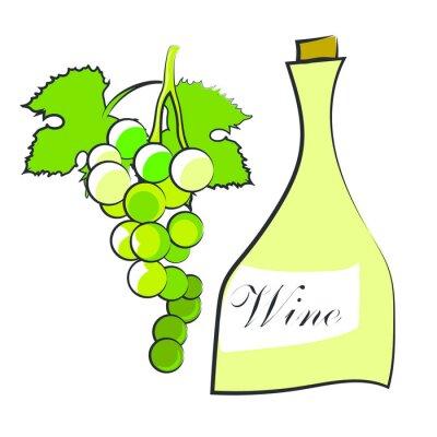 Naklejka Wino