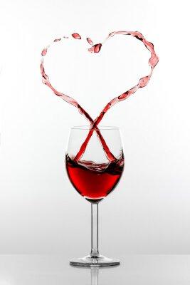 Naklejka Wino Splash