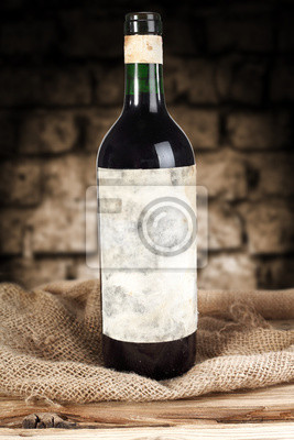 Naklejka wino w butelce