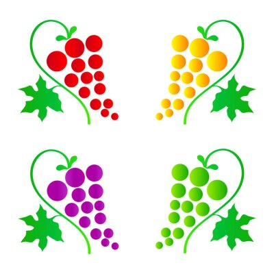 Naklejka winogrona