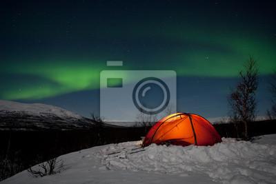 Wintertour w Laponii - Nachts unter Nordlichtern