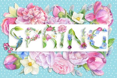 Wiosna kwiatów ilustracji