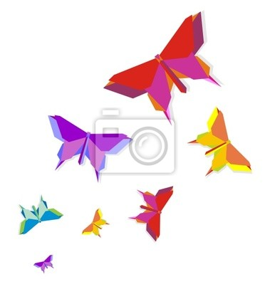 Wiosna Origami butterfly