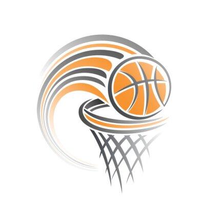 Naklejka Wizerunek piłki do koszykówki