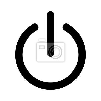 Naklejka Włącz lub wyłącz płaskiej ikona zasilania dla aplikacji i stron internetowych