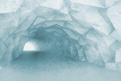 Naklejka Włączanie światła niebieski tunelu wnętrze z ulgą kryształu