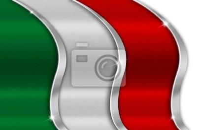 Włochy Metal Flag