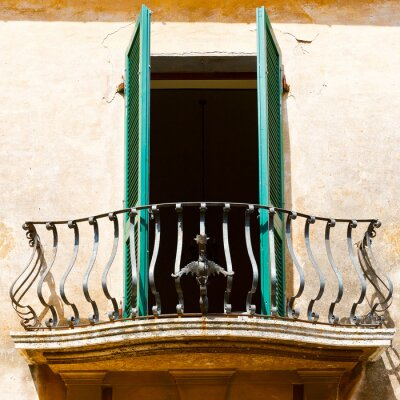 Naklejka włoski balkon
