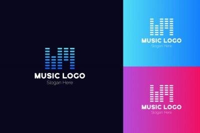 WM Letter Music Logo Template