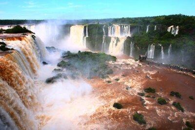 Naklejka Wodospad / Iguazu Falls w Argentynie