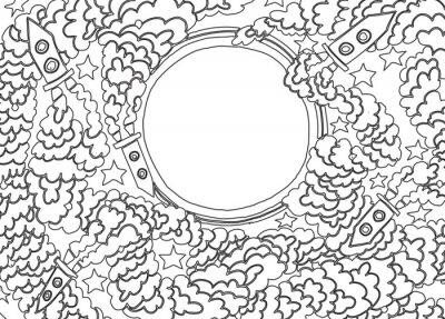 Naklejka Wokół Księżyca (ilustracji wektorowych)