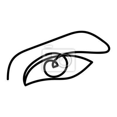 Woman abstract eye, one line drawing. Hand drawn outline illustration. Continuous line. Vector illustration