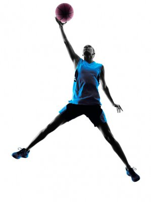 Naklejka woman basketball player silhouette