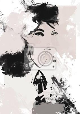 Naklejka Woman face beauty