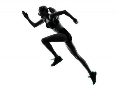 Naklejka woman runner running jogger jogging silhouette