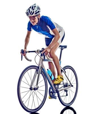 Naklejka woman triathlon ironman athlete cyclist cycling