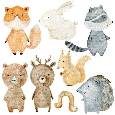 Naklejka Woodland Animals Set