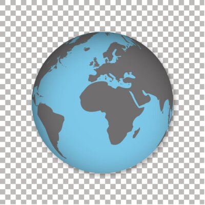 World map - vector illustration of earth map on white background