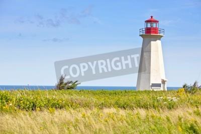 Naklejka Wrak statku Point Lighthouse w wiejskich Prince Edward Islandia, Kanada.