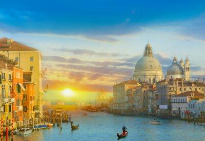 Naklejka Wschód słońca w Wenecji