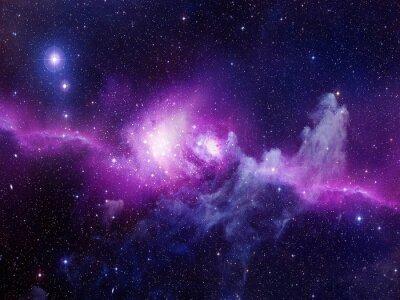 Naklejka Wszechświat pełen gwiazd, mgławic i galaktyki