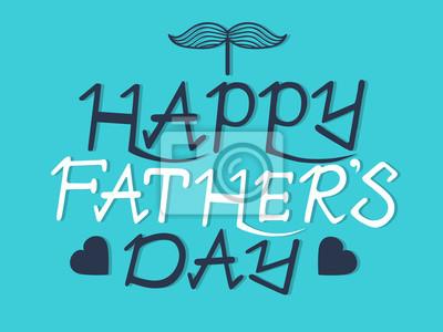 Wszystkiego najlepszego z okazji dnia ojca kaligrafii ręcznie ręcznie napis na niebieskim b