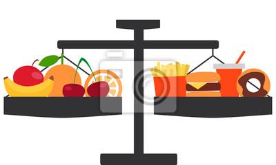 Wybór między zdrowe i smaczne