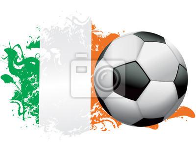 Wybrzeże Kości Słoniowej Soccer Grunge Design