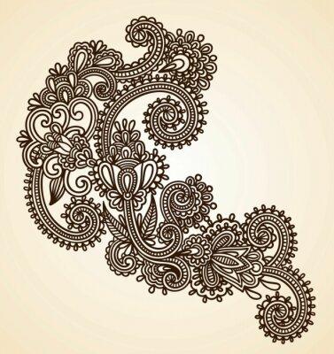 Wyciągnąć rękę abstrakcyjne henna projektowania mendie elementu