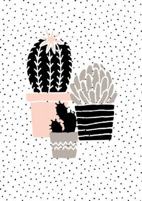 Naklejka Wyciągnąć rękę Cactus Plakat