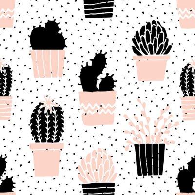 Naklejka Wyciągnąć rękę Cactus Wzór
