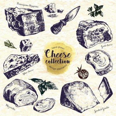 Naklejka Wyciągnąć rękę Cheese Set