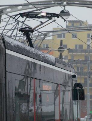 Naklejka Wyładowania w tramwaju na wózku z lodu