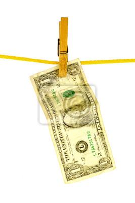 wyprane dolara na linie