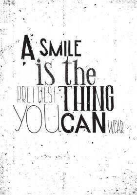 Naklejka Wyrażenie, uśmiech jest prettilest co można nosić