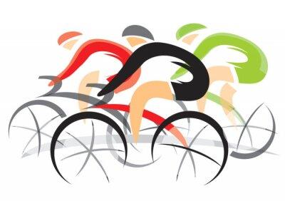 Naklejka Wyścig rowerów