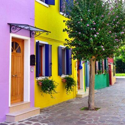 Naklejka Wyspa Burano, Wenecja.