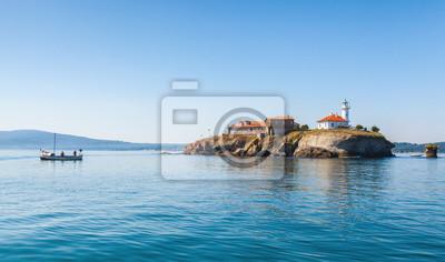 Naklejka Wyspa św Anastasia w Burgas zatoce Morza Czarnego