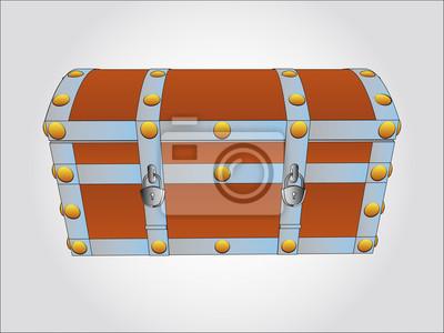 wzmocniona metalowa skrzynia ilustracji wektorowych