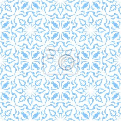 Wzór azulejo portugalskiej płytki ceramicznej.